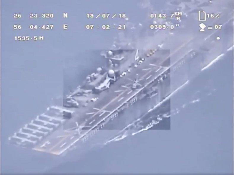 us iran navy drone footage gulf