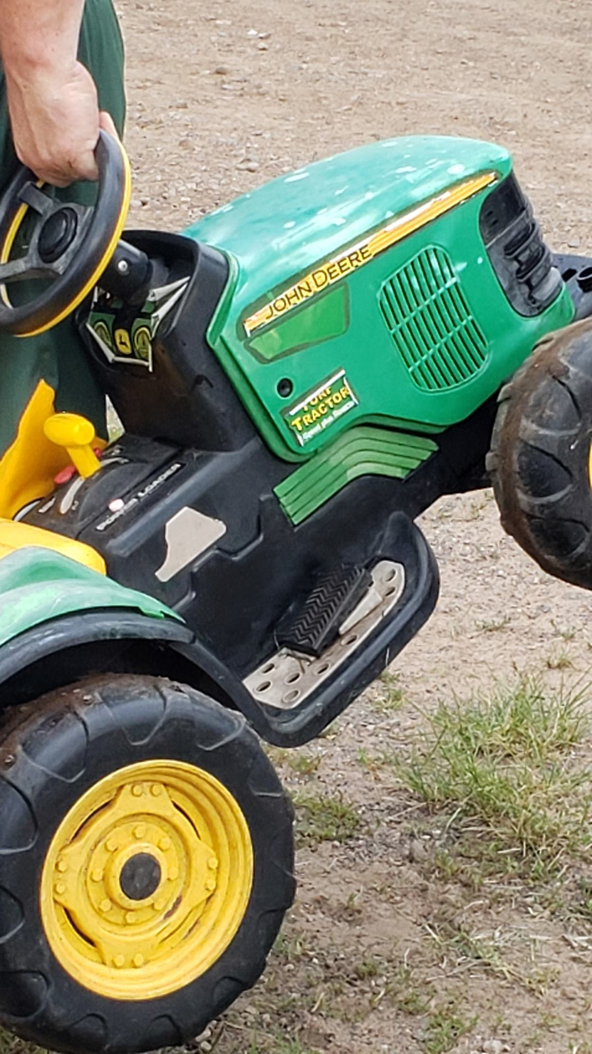 Toddler Drives Battery-Powered Tractor To County Fair