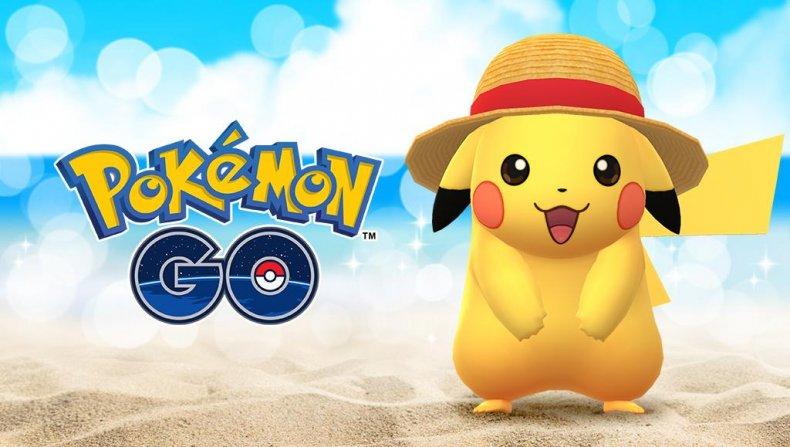 pokemon go straw hat pikachu one piece