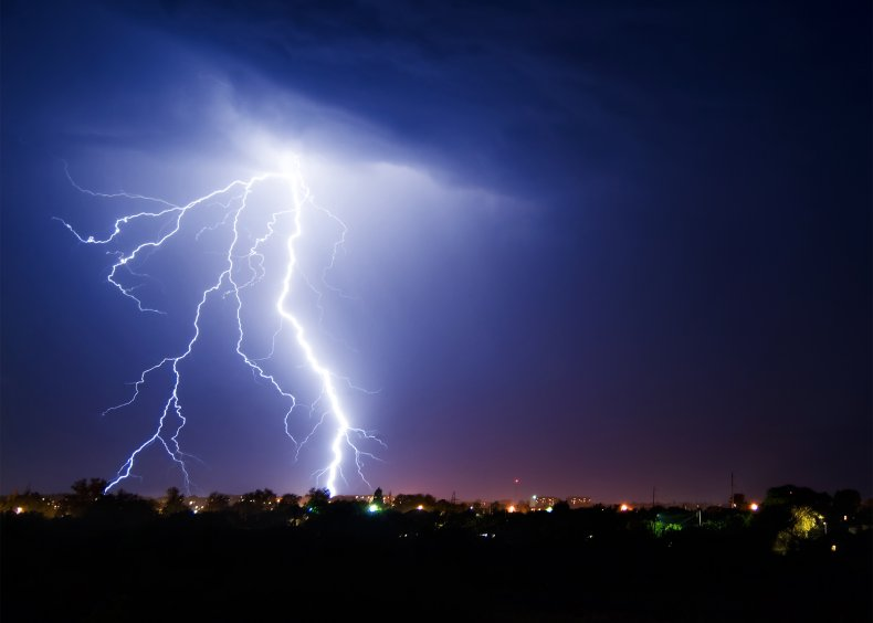 lightning, thunderstorm, thunder, weather, stock, getty