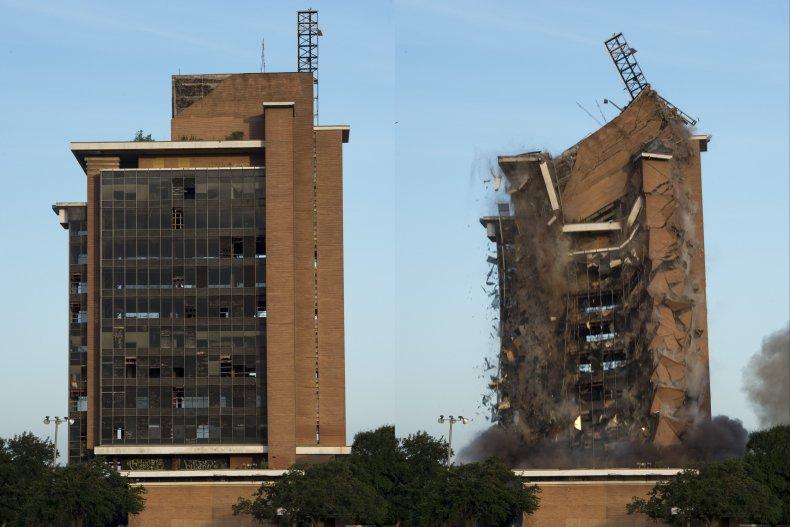 First Pasadena State Bank Implosion
