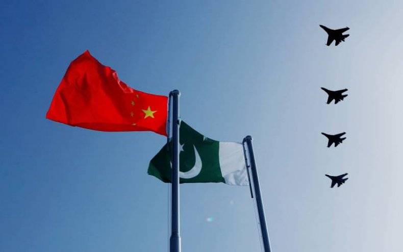 china pakistan military flags