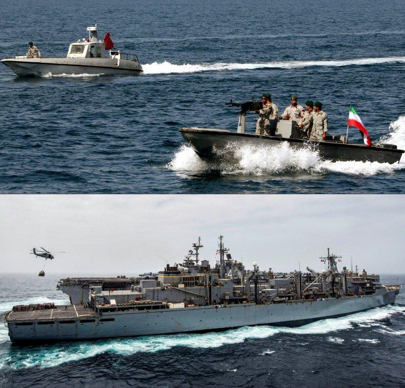 iran navy us warship gulf