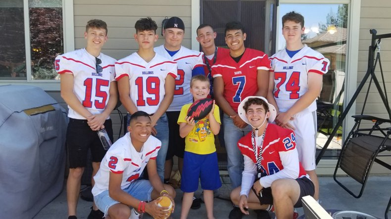 football team autistic boy