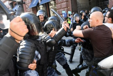 Riot Police at Moscow Protest