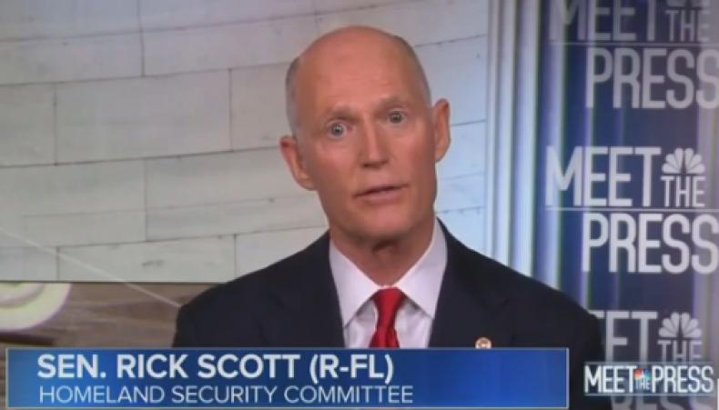 rick scott defends trump tweets