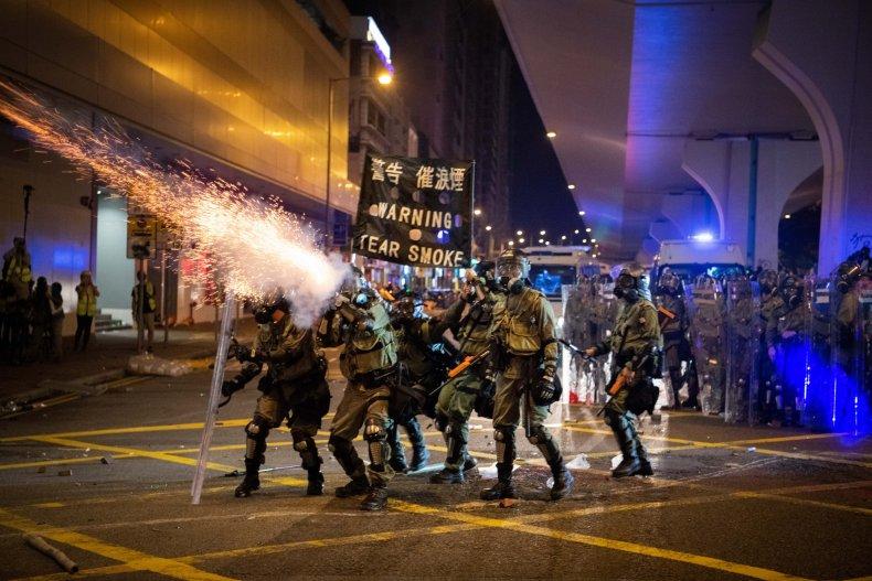 Hong Kong, China, protests, police