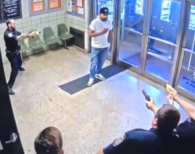 Knife Man in Police Station
