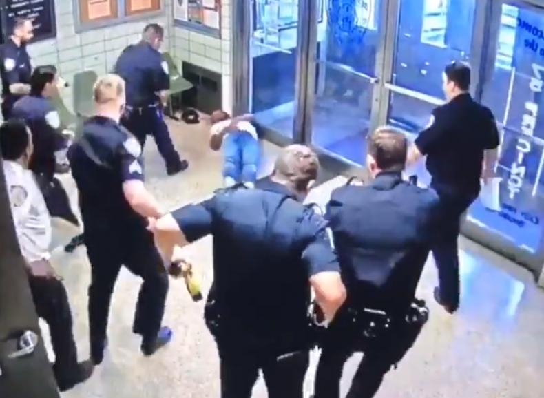Knife Man Stunned