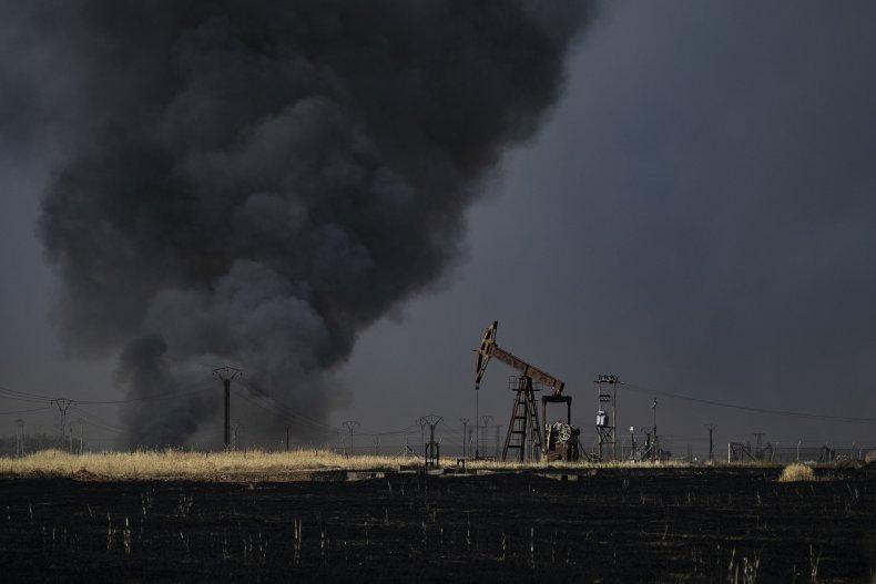 syria oil crop fires