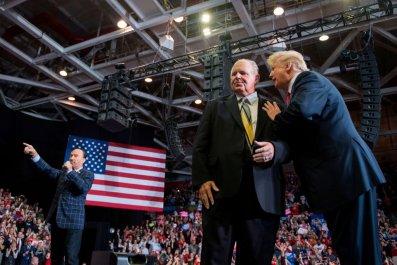 Rush Limbaugh and Donald Trump