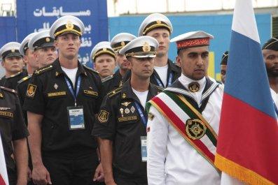 iran russia navy contest