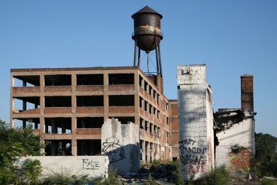 abandoned factory, building, derelict, stock, image
