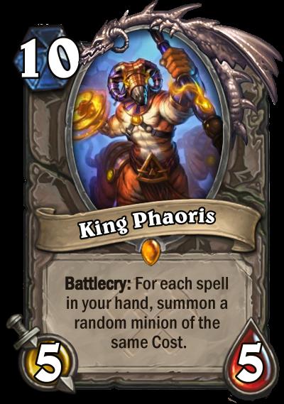king phaoris hearthstone