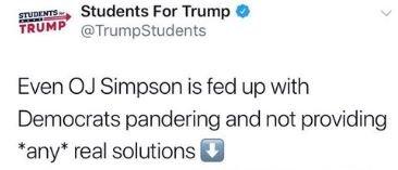 students for trump oj simpson