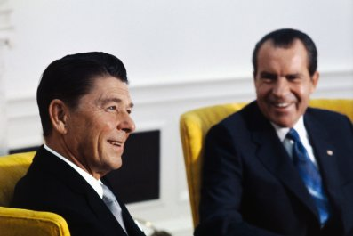Ronald Reagan and Richard Nixon