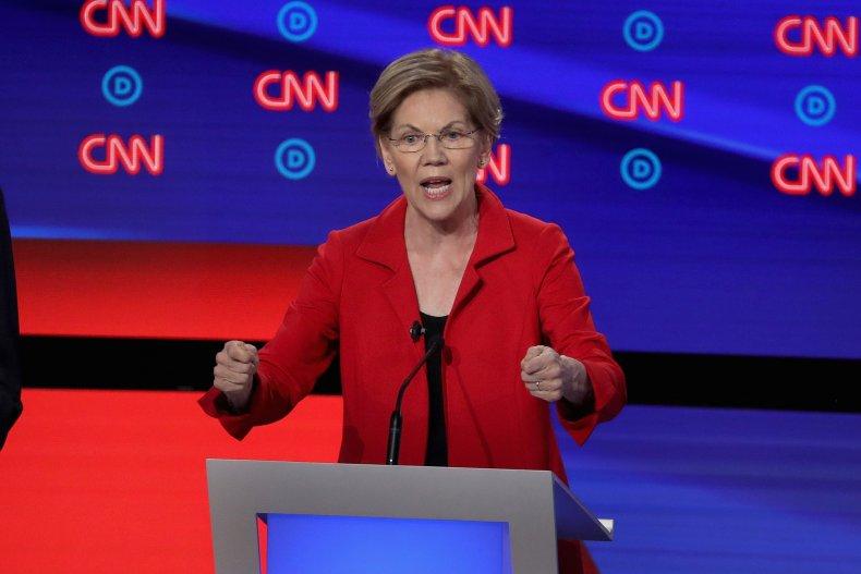 elizabeth warren democratic presidential debate college
