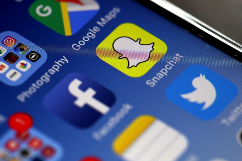 Phone apps Facebook Snapchat