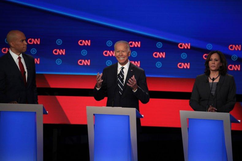 Biden Harris Booker debate