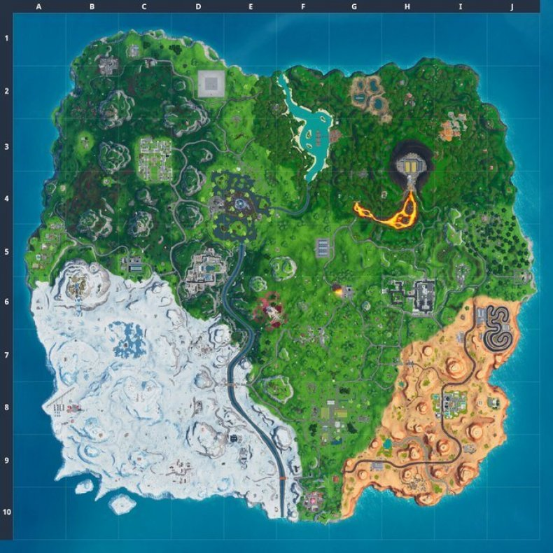 fortnite season x map