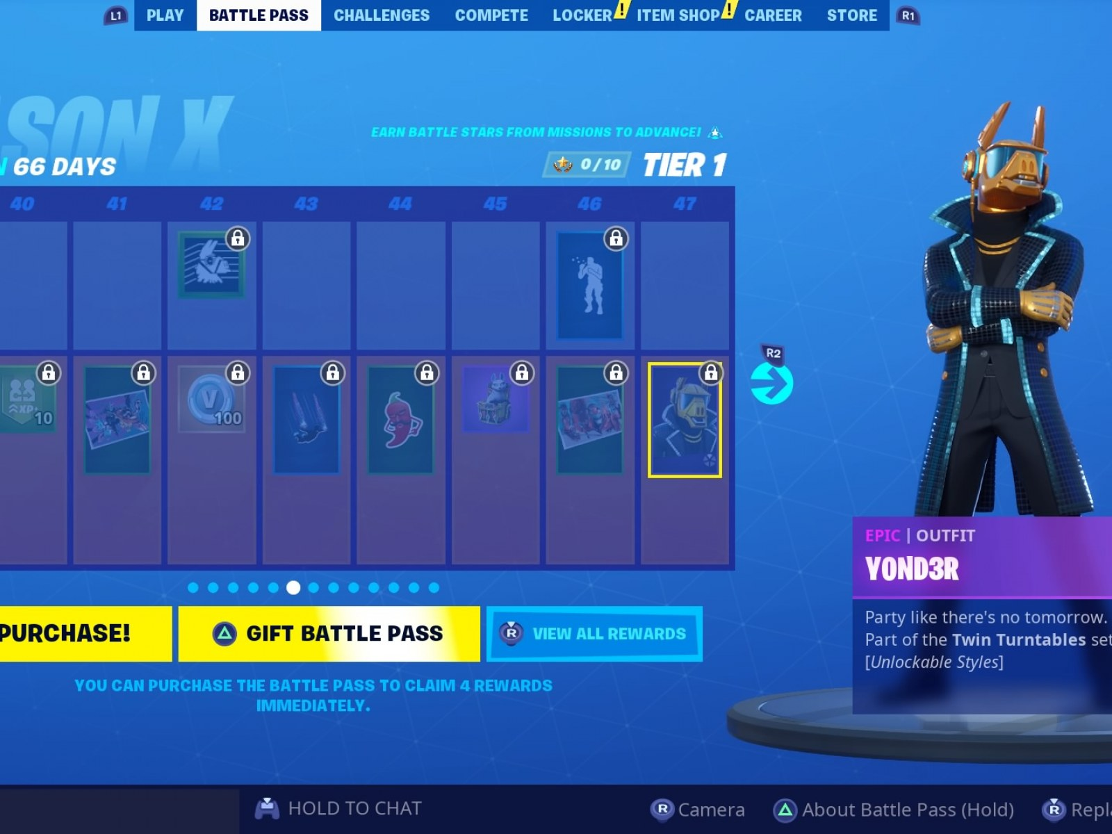 Fortnite Dance Behind Dj Booth At Dance Club With Yond3r Outfit Location