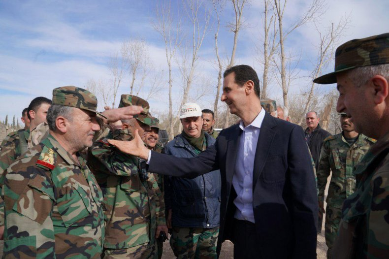 syria bashar assad damascus ghouta