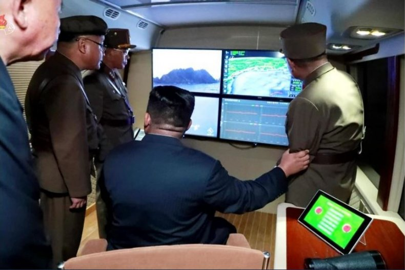 north korea missile launch kim
