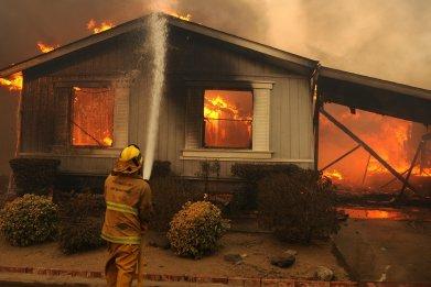fire mobile home trailer