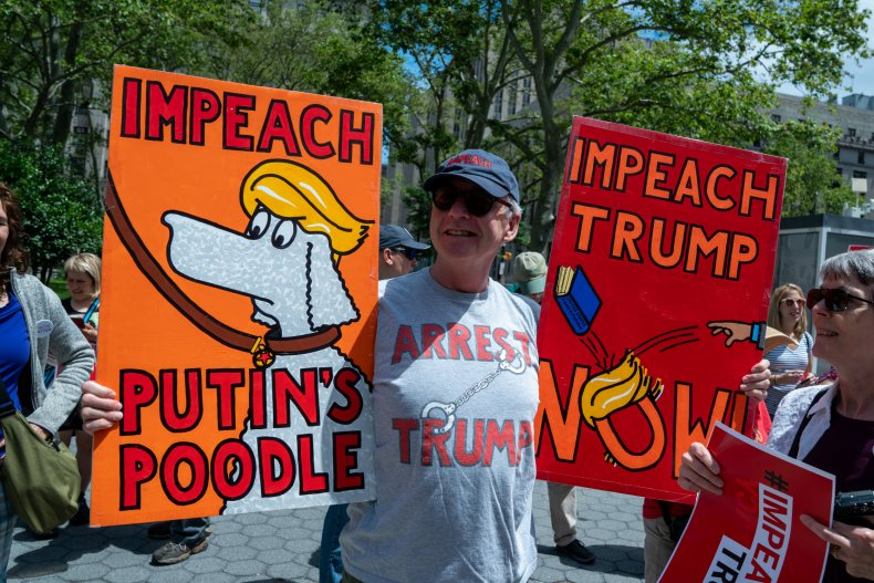 Activists Call For Impeachment Of President Trump In New York City