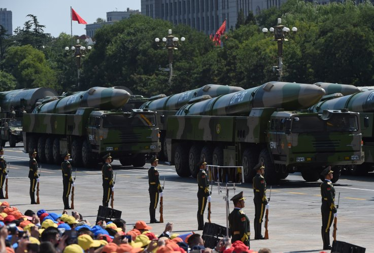 china military ballistic missile parade