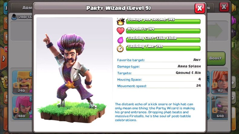clash of clans party Wizard