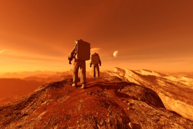 astronaut, space travel, planet, stock, getty