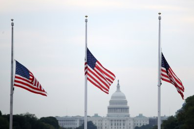 half staff flags Dayton El Paso shoootings