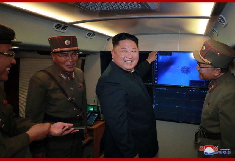 north korea kim jong un test