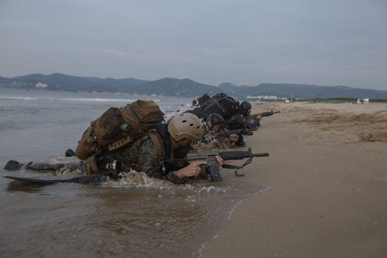 us south korea military marines