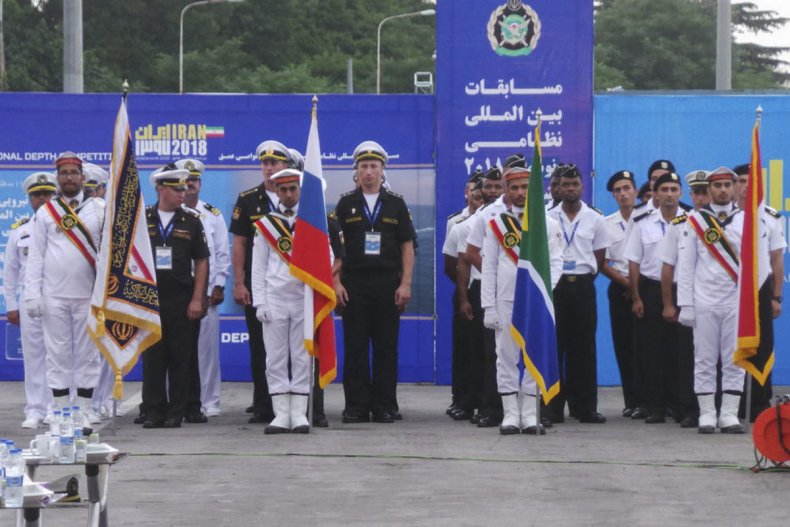 iran navy russia diving contest