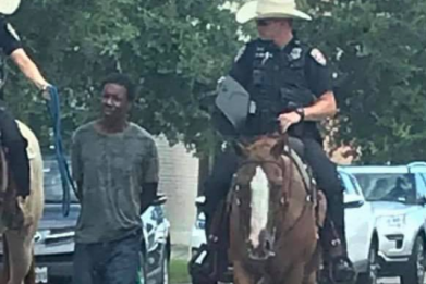 Donald Neely Arrest by Galveston mounted police