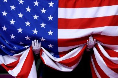 US flag national anthem