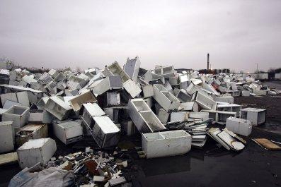discarded fridges