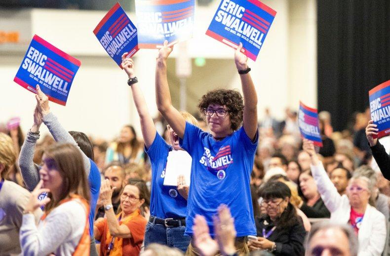 Eric Swalwell supporters
