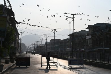 india kashmir border unrest clashes