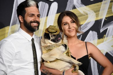 Doug the Pug and guests attend the 2018 CMT Music Awards at Bridgestone Arena on June 6, 2018 in Nashville, Tennessee.