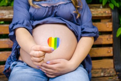 pregnant, rainbow, gay, lgbt, stock, getty