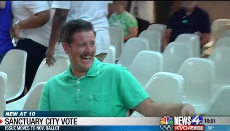tucson man laughing trump supporters