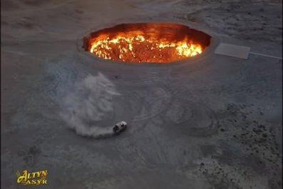turkmenistan president gates hell donuts