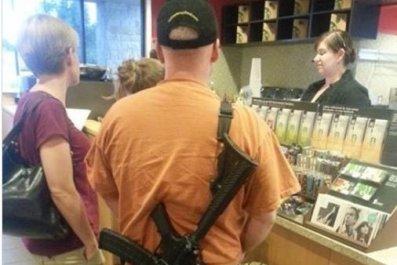starbucks open carry assault rifle