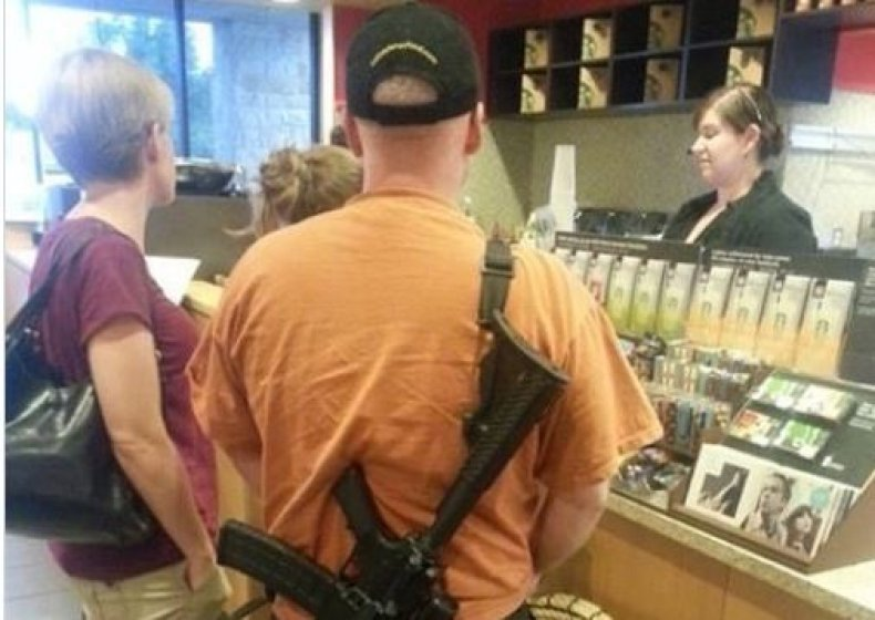 starbucks open carry assault rifle