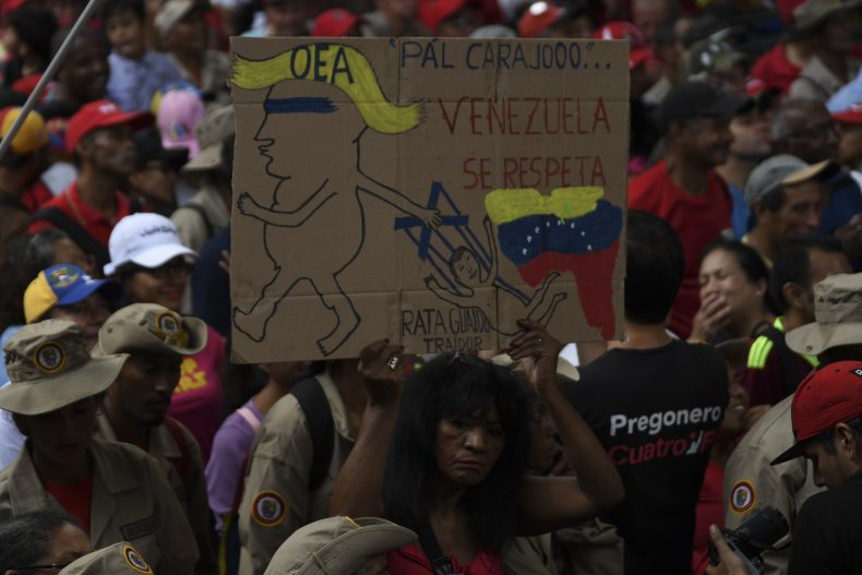 venezuela trump protest