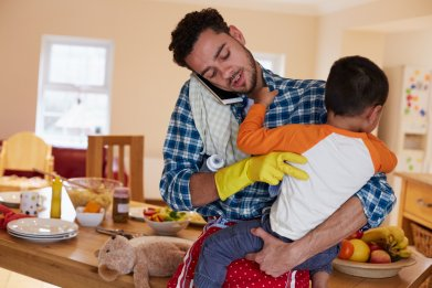 father, baby, dad, chores, man, stock, getty,