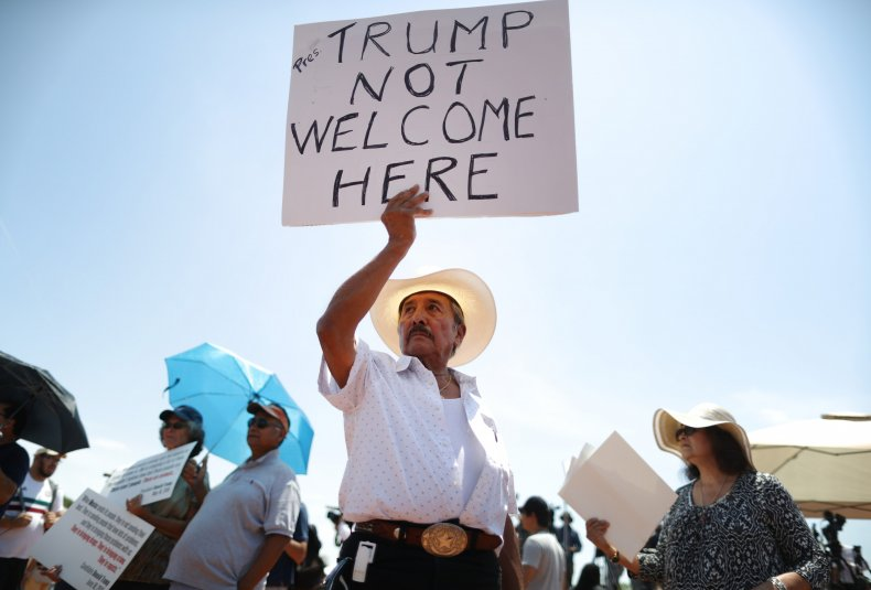 Trump Protest El Paso Shooting